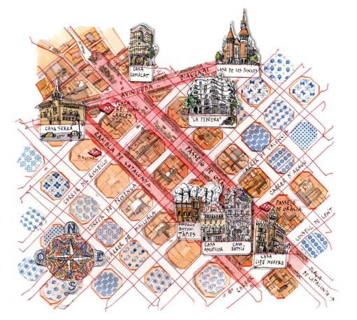 I Viaggi del Sole Barcelona map